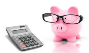 Piggy Bank and Calculator Picture