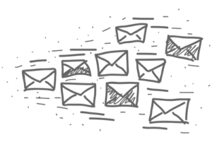 Flying Emails Picture
